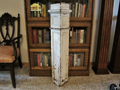 Victorian Egg Dart Shabby Oak Architectural Newel Post Plant Stand Candle Holder