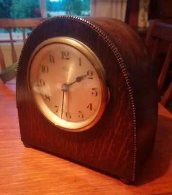 French Bulle Wooden Mantle Clock
