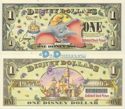 WDW 2005 $1 D Barcode MINT UNCIRCULATED DUMBO Disney World Dollar Dollars