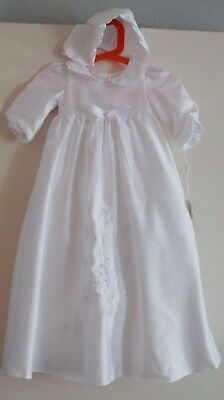 New & tags.Lovely silky ivory  baby girl christening outfit.Age 3 months.