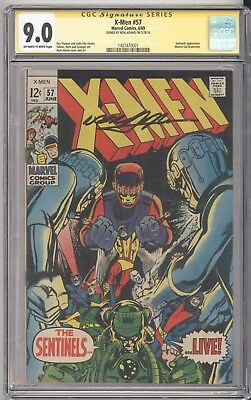Marvel Comics X-MEN #57 CGC 9.0 OW-White Pages - Signed by NEAL ADAMS