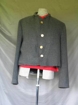 Confederate States Civil War Style Jacket and Red Long John Top