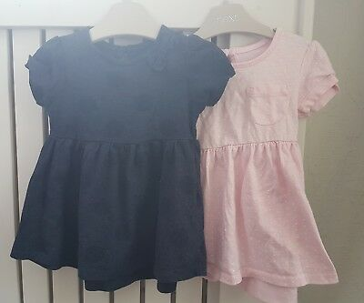 c273db6931c9 Primark Baby Girls Short Sleeve Summer Dresses x 2 - Size 6-9 Months USED