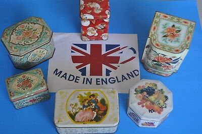VINTAGE Daher Tin Lot OF 3 Made In England  Vintage Containers +3 Bonus TINS