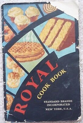 Royal Cook Book~Standard Brands Incorporated~1930~Royal Baking Powder~Paperback