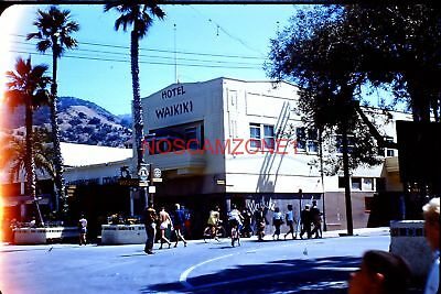 original 1950s 35mm Kodak slide - Waikiki Hotel & Hurricane Cove Catalina Island