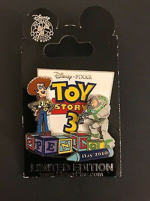 DISNEY PIXAR Toy Story 3 Opening Day 2010 3D Limited Edition Pin