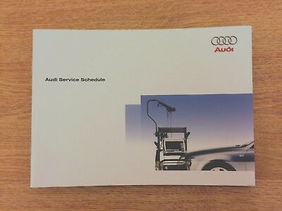 AUDI SERVICE BOOK NEW ALL MODELS PETROL AND DIESEL A1 A2 A3 A4 A5 A6 A8 S1 S3 s4