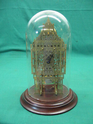 Brass Skeleton Clock Thwaits & Reed Big Ben Replica By Hermle Jewel Mechanism