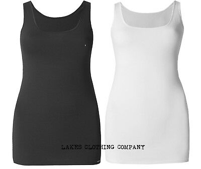 Small to 2X Size 12 to 20 NATURANA Satin Trim Modal Blend Cami Vest Top