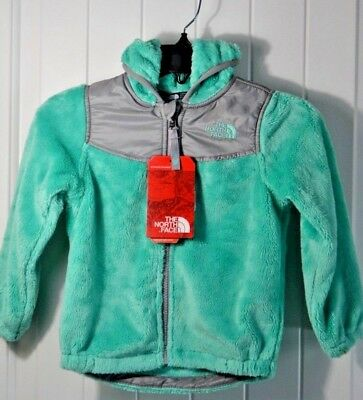 Nwt Toddler The North Face Bermuda Green Oso Hoodie Jacket Sz 3T Or 4T