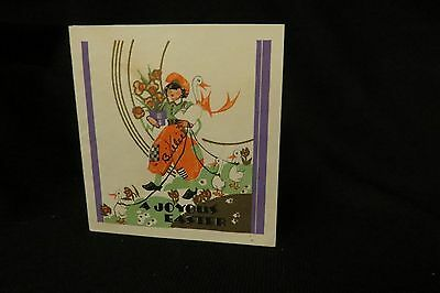 Vintage ART DECO Duck Easter Card c. 1930s