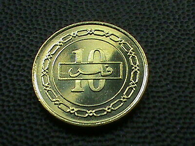 BAHRAIN  10 Fils  2000 ( 1420 ) UNCIRCULATED , $ 2.99 maximum  shipping  in  USA
