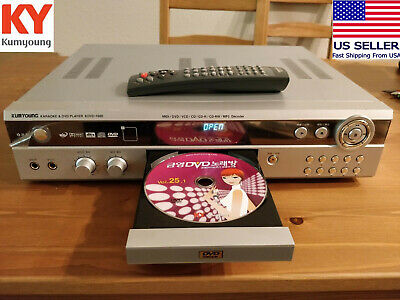 KUMYOUNG KDVD-1000 Korean KARAOKE DVD Player + RDVD-1000 REMOTE Demo Disc TESTED