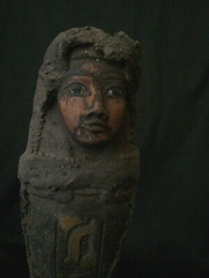 RARE EGYPTIAN USHABTI ANTIQUE Statue Shabti ANCIENT EGYPT Luxor Stone 2600 BC