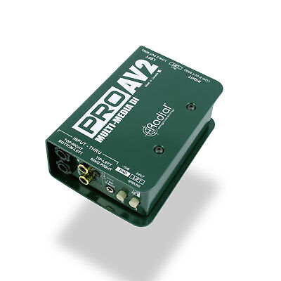 Radial ProAV2 Stereo Passive Direct Box with XLR 1/4 RCA and 1/8 Inputs