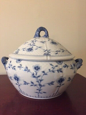 Bing & Grondahl Butterfly Tureen and lid Blue B&G Denmark Sea horse handles