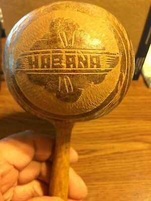 Old wooden moracca sovenir from Habana Cuba