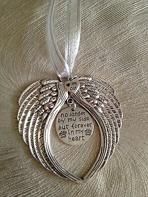 Angel Wings Pet Memorial - Window Hanger, Cremation Urn Decoration, Pet Loss