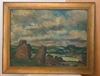 Nice Antique Old Impressionist Landscape Oil Painting