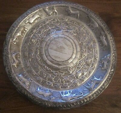 Antique Indian Solid Silver Plate___#1