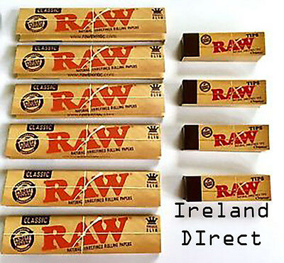 Raw Rolling Papers - 6x Raw Classic Skins & 4Raw Filter Tips