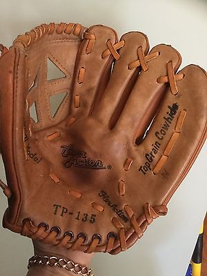 Child Size Leather ( Cowhide ) Softball T Ball Baseball Mitt Super Action Left H