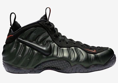 "NIKE AIR FOAMPOSITE PRO ""SEQUOIA"" 624041-304 Black Team Orange Men's Sneaker NEW"