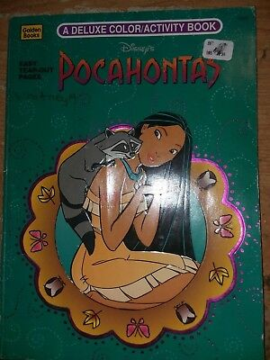 Vintage Disney's Pocahontas A Deluxe Color/Activity Book 1995 A Golden Book