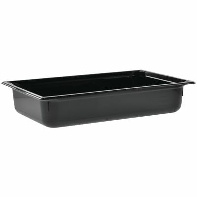 "Vollrath Super Pan® Food Pan Full Size Black Polycarbonate Low-Temperature - 4""D"