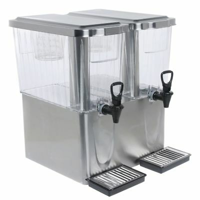 Service Ideas 6 gal Double Diamond Stainless Steel and Tritan Beverage Dispenser