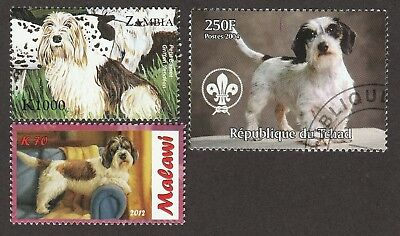PETIT BASSET GRIFFON VENDEEN ** Int'l Dog Stamp Collection **  PBGV