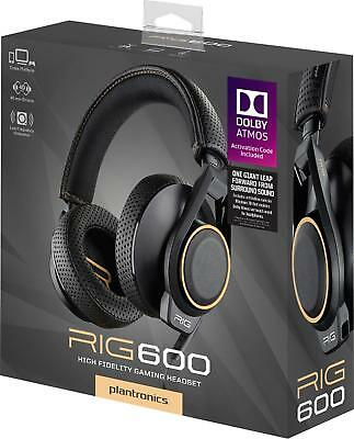 NEW - Plantronics RIG 600 Dolby Atmos Gaming Headset - FREE SHIPPING