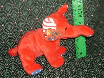 """Ty Righty The 2.0 Beanie Elephant - 8"""" Long - Unused Code- 2007 -Mwmt"""