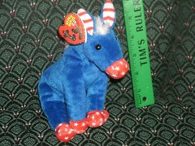 "Ty Lefty The 2.0 Beanie Donkey - 7"" Long - Unused Code- 2007 -Mwmt"