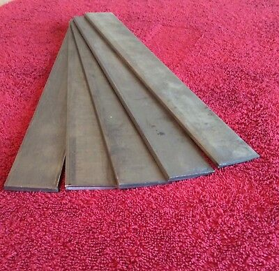 "1095 High Carbon Steel 3/16"" x 1 1/2"" x 12"" (lot 5 pcs) FORGING KNIFE MAKING"