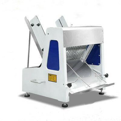 110v Electric Automatic Commercial Toast Bread Slicing Machine 0.47''