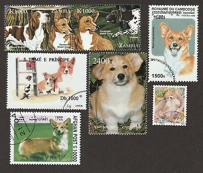 WELSH CORGI **Int'l Dog Stamp Collection **Unique Gift**