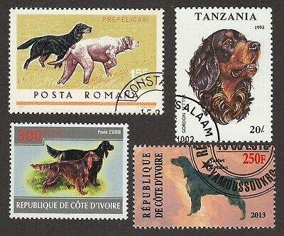 GORDON SETTER **Int'l Dog Stamp Collection **Unique Gift**