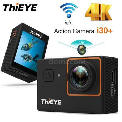 "ThiEYE i30+ 2"" LCD 4K 12MP WiFi Action Sports Camera Waterproof Slow Motion T2K8"