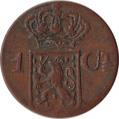 1838 Netherlands East Indies - Sumatra 1 Cent Coin KM#290