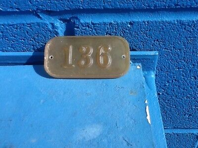 gamewell fire alarm box number tag UNPAINTED.