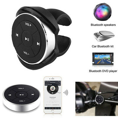 Wireless Remote Control For Car Motorcycle Bike Handlebar Bluetooth Media Button