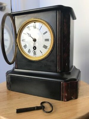 Roblin & Fils Freres Paris  Antique Marble  8Day Clock