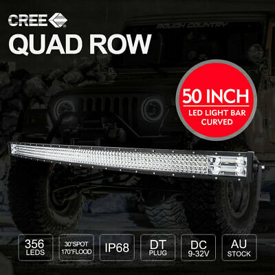 50 inch CREE LED Light Bar 4x4 Curved Combo Beam Work Driving Lamp 398000LM
