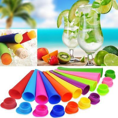 Ice Cream Mold Push Up Ice Cube DIY Lolly Mould Silicone Tray Pop Frozen Maker