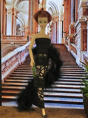 OOAK Fashion for Barbie, Silkstone Mod Vintage Clare's Couture TEMPTRESS