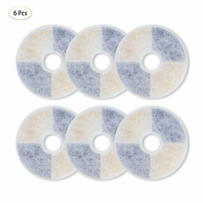 6 x Dual Water Soften Carbon Replacement filters for Catit  Senses Fountains New