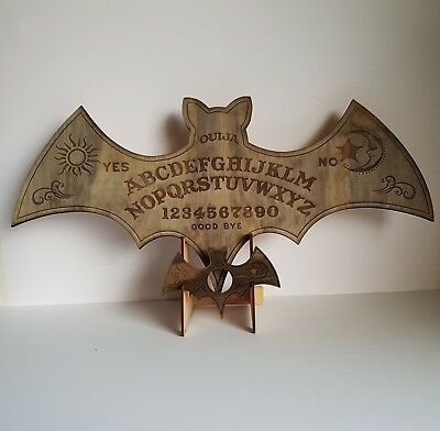 Bat Wooden Spirit Ouija Board incl. Planchette and stand