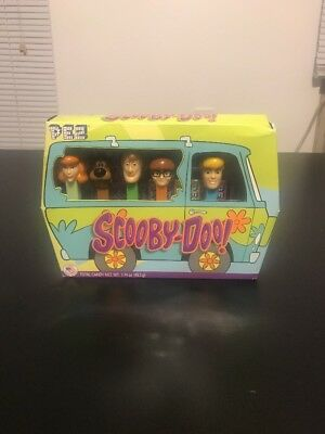 New Scooby Doo PEZ Complete Set, Mystery Machine Van. Velma Fred Shaggy Daphne